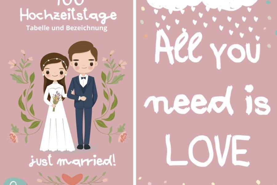 Hochzeitstage Übersicht und Bezeichnung