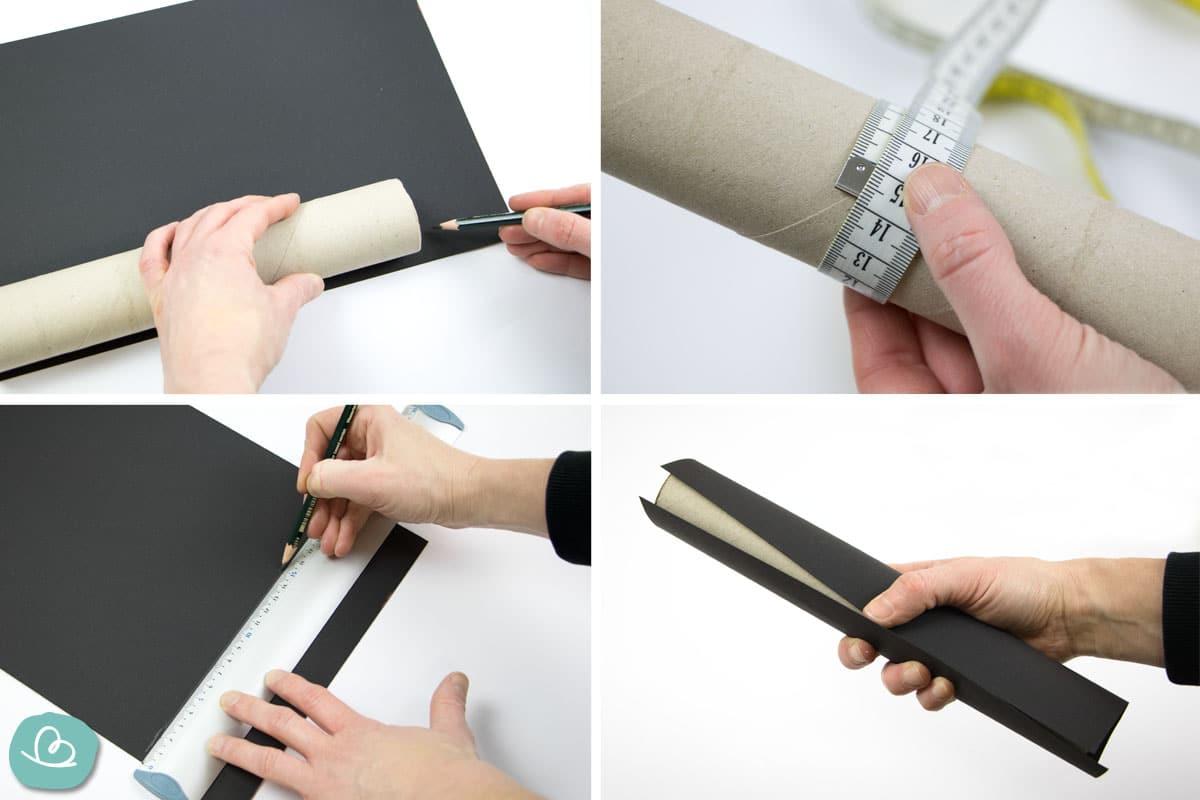 Tonpapier Maße anzeichnen