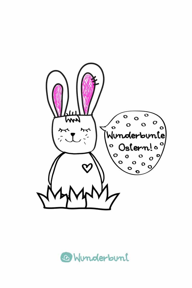 Ausmalbilder zu Ostern  kostenlose Malvorlagen  Wunderbunt.de