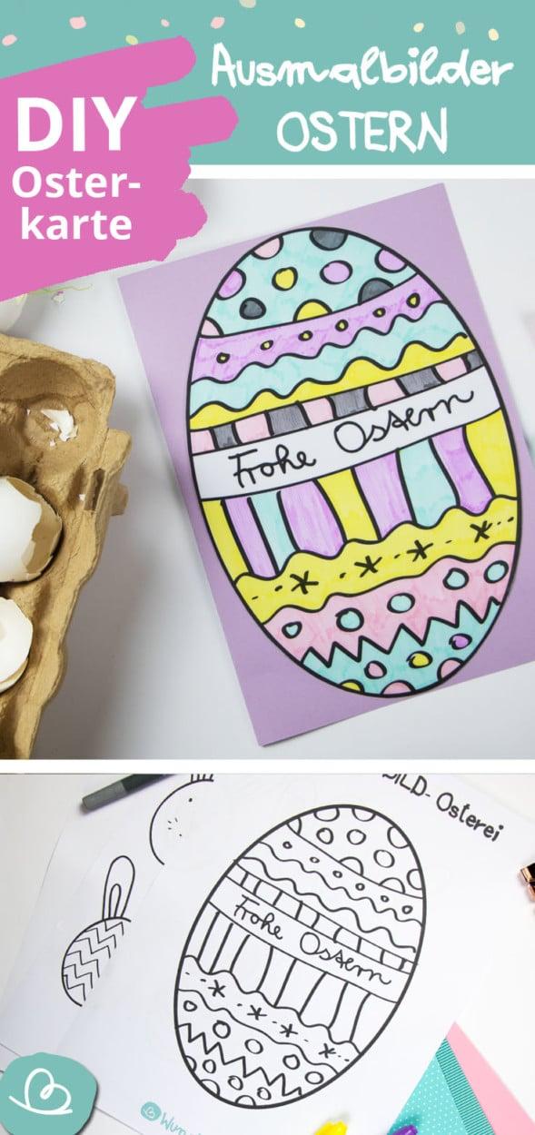 Osterkarte basteln Pinterest