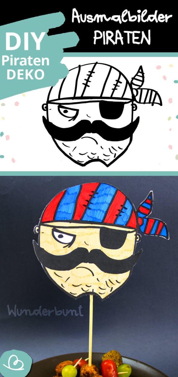 Ausmalbild Pirat Pinterest
