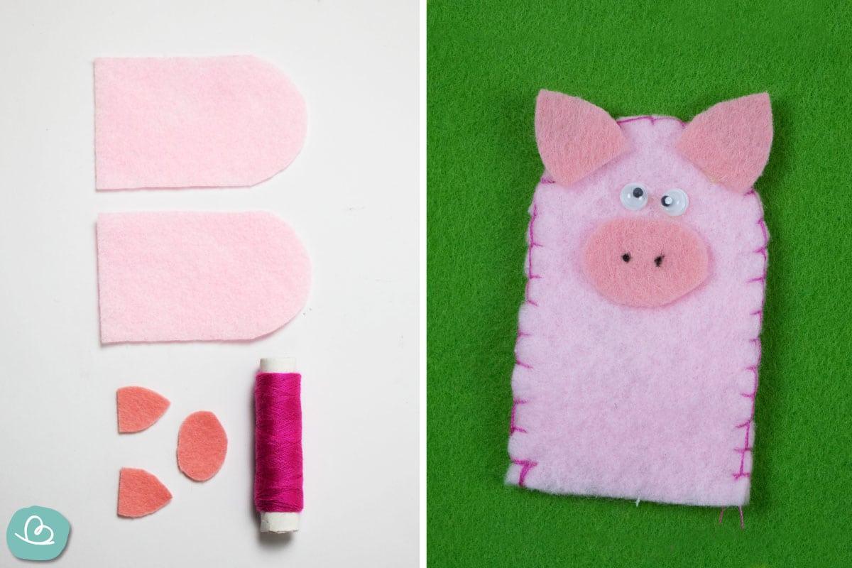 Fingerpuppe Schwein