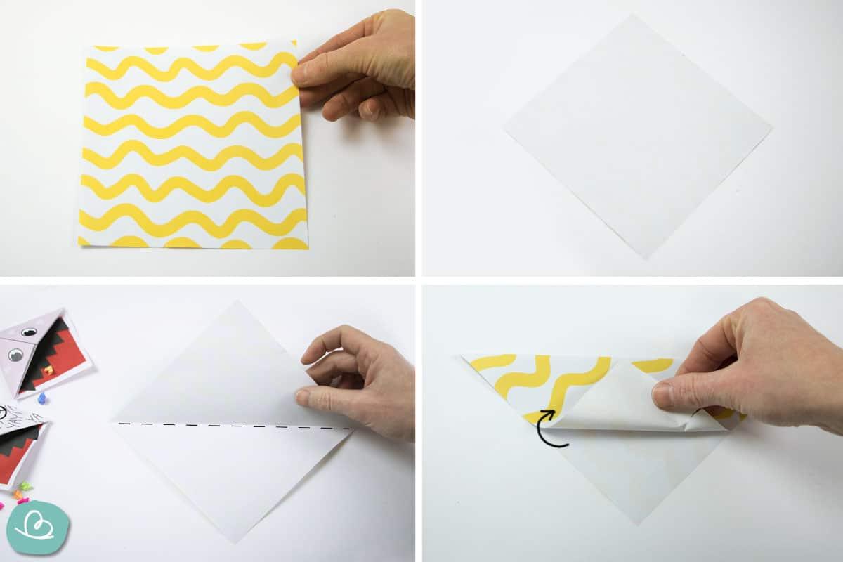 aus Tonapier Origami falten