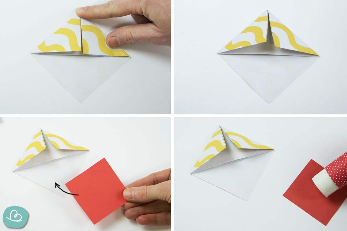Papier falten und kleben