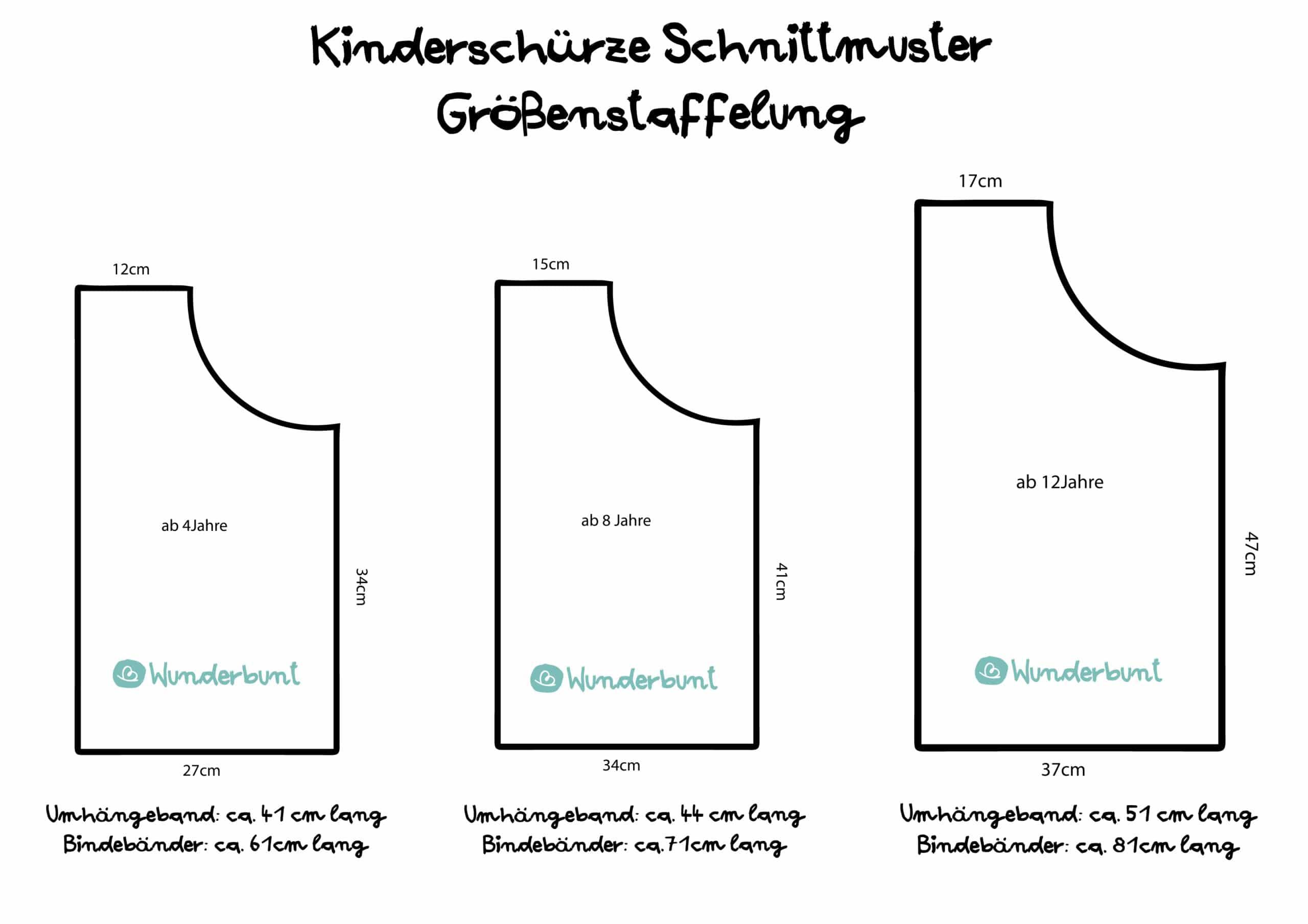 Kinderschurze Selber Nahen Anleitung Schnittmuster Wunderbunt De