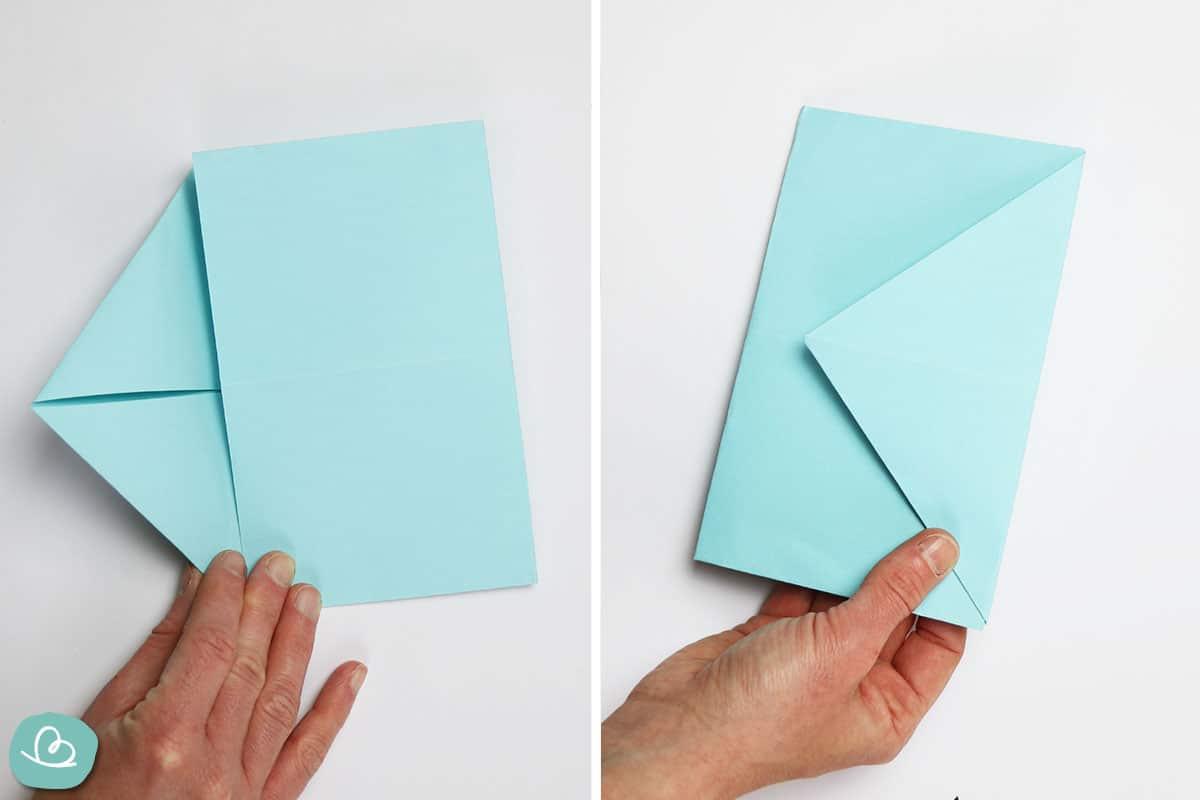 Umschlag aus Papier basteln