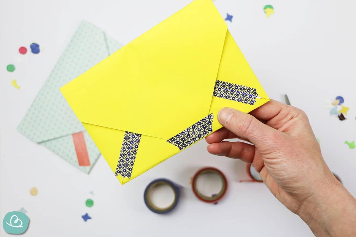 Washi Tape auf Umschlag