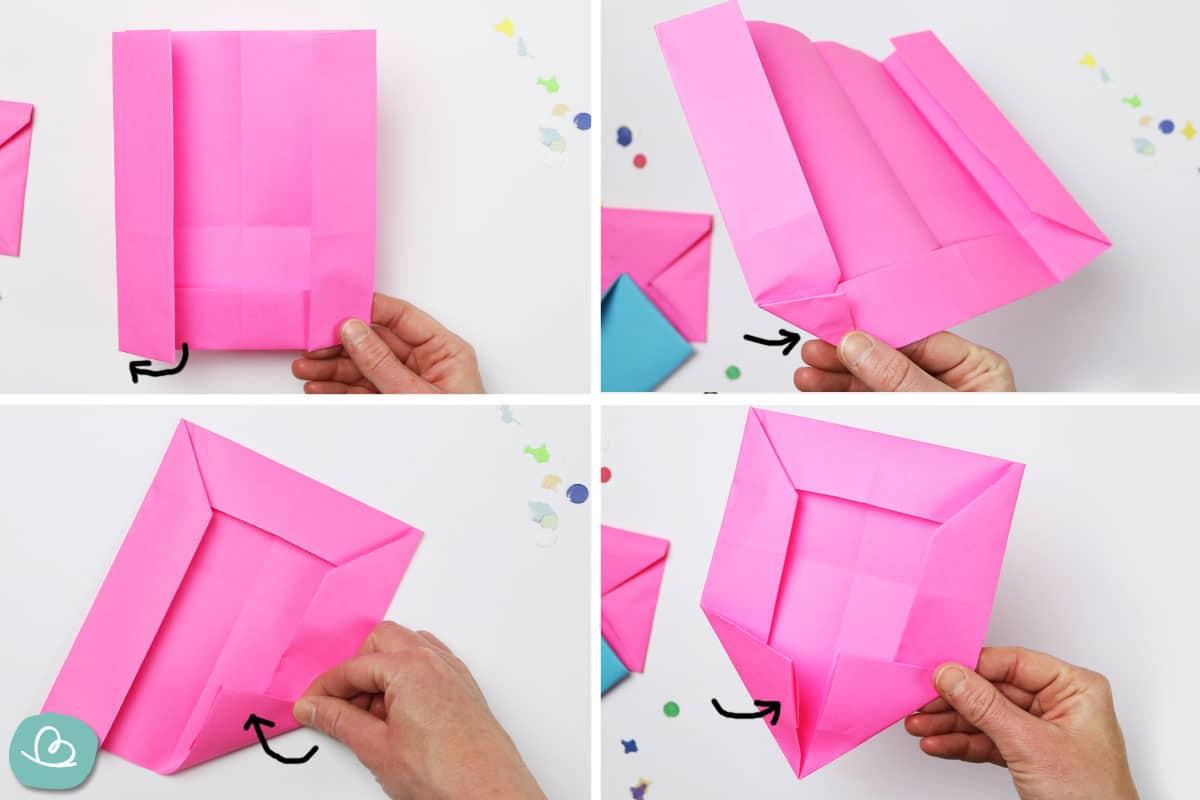 Umschlag aus Papier falten