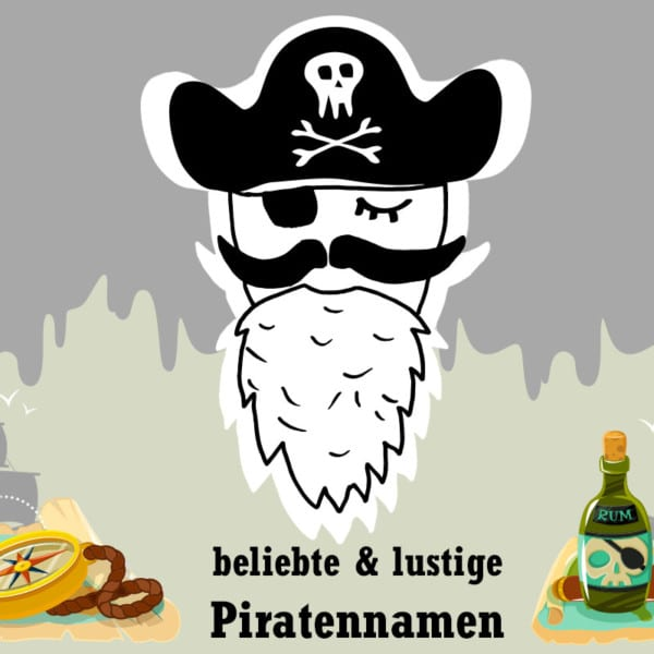 30 lustige und beliebte Piratennamen für Jungs und Mädchen