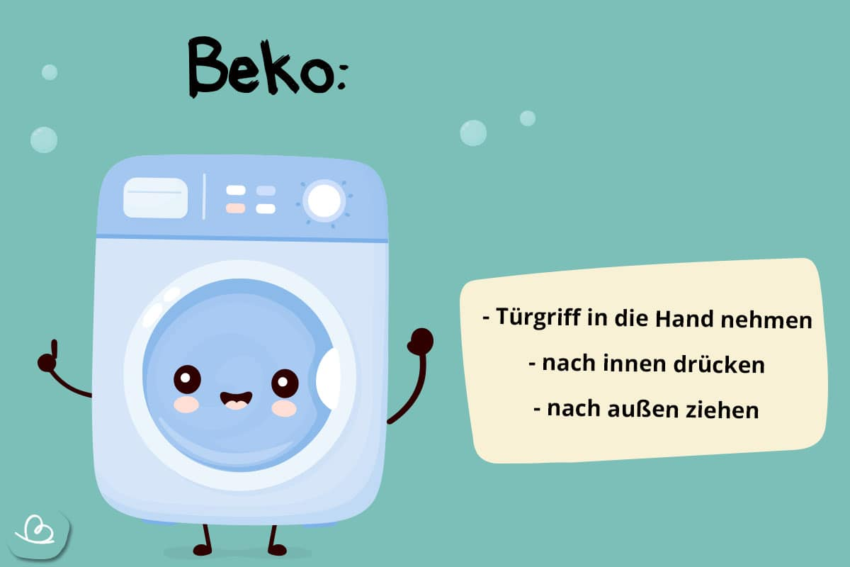 Notöffnung Beko Waschmachine