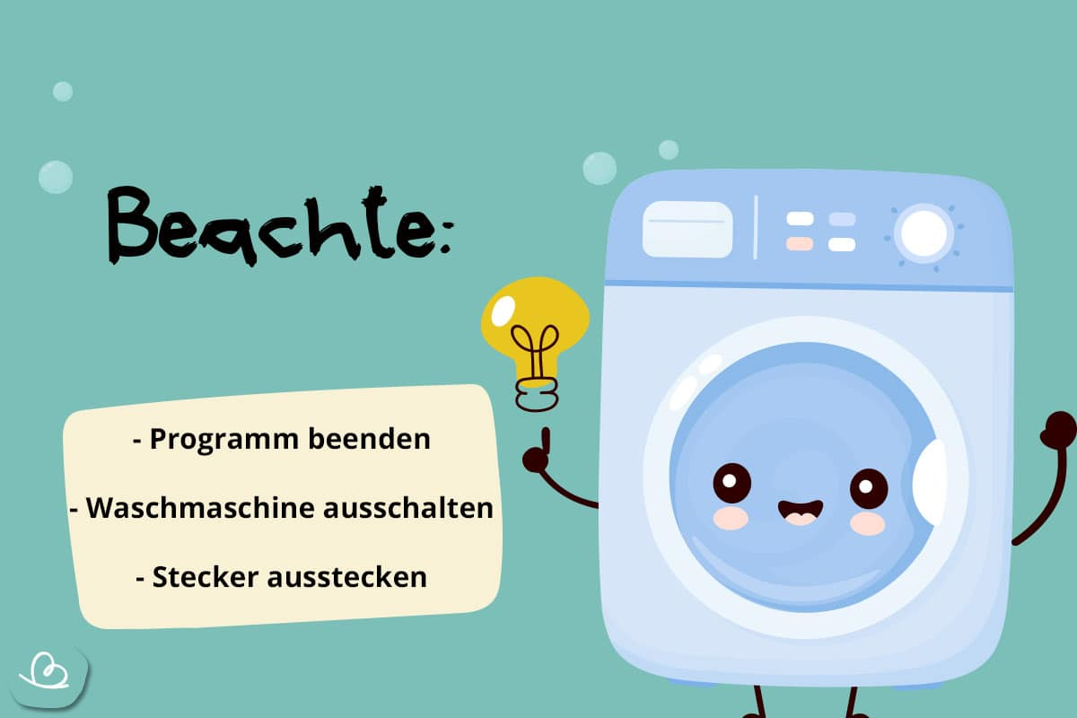 Notöffnung Waschmaschine Hinweise