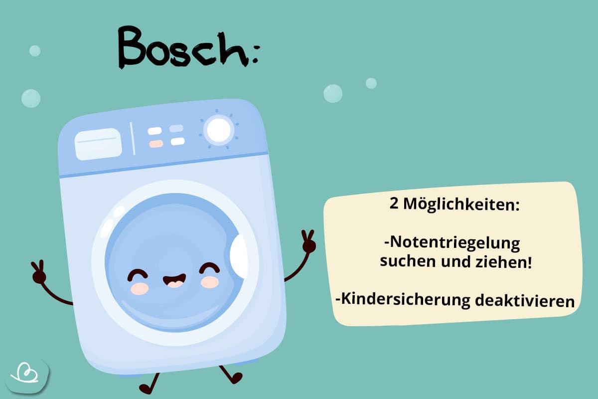 Notöffnung BoschWaschmachine