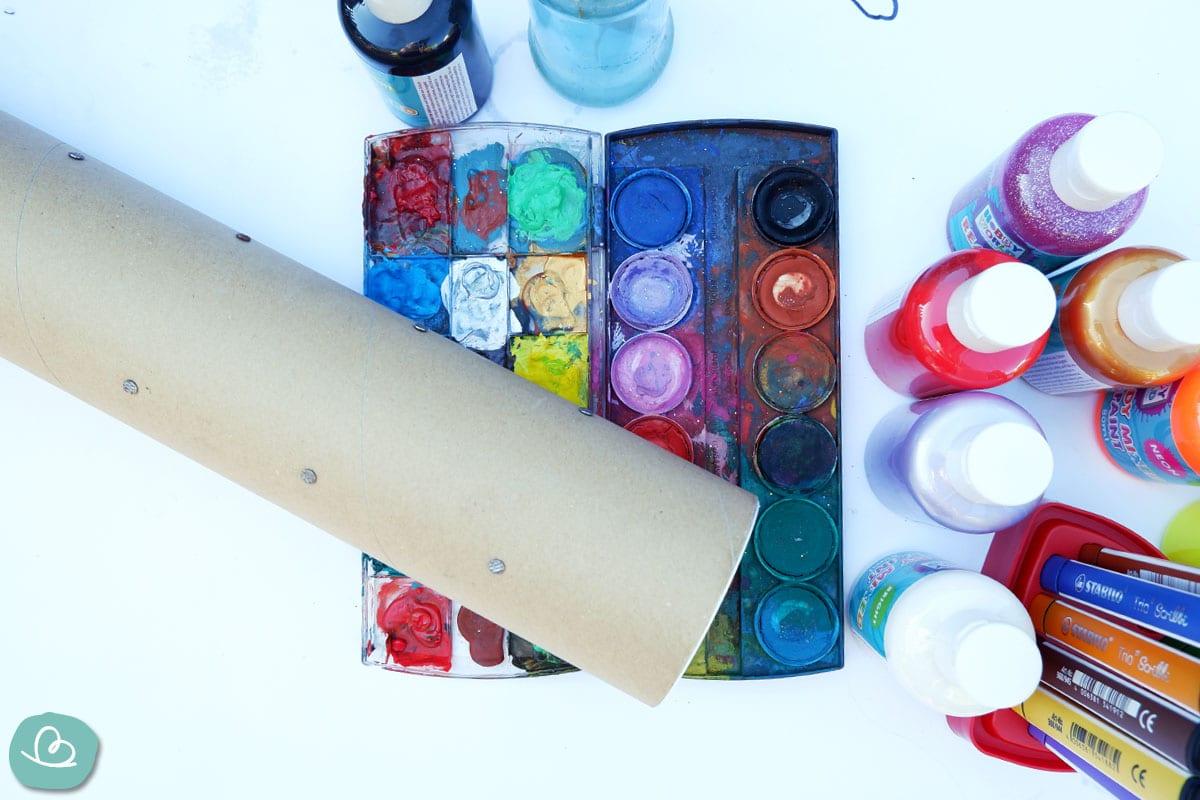 Papprolle Farben zum Basteln