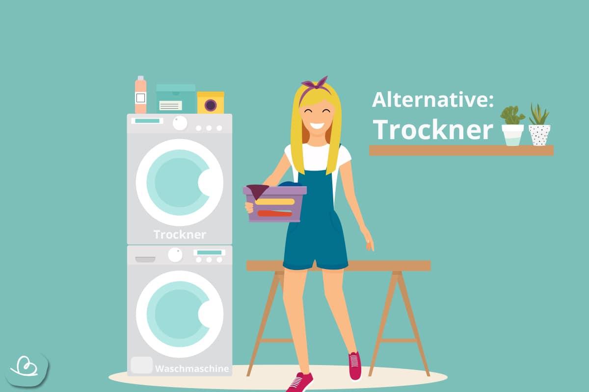 Wäsche Trockner und Hausfrau