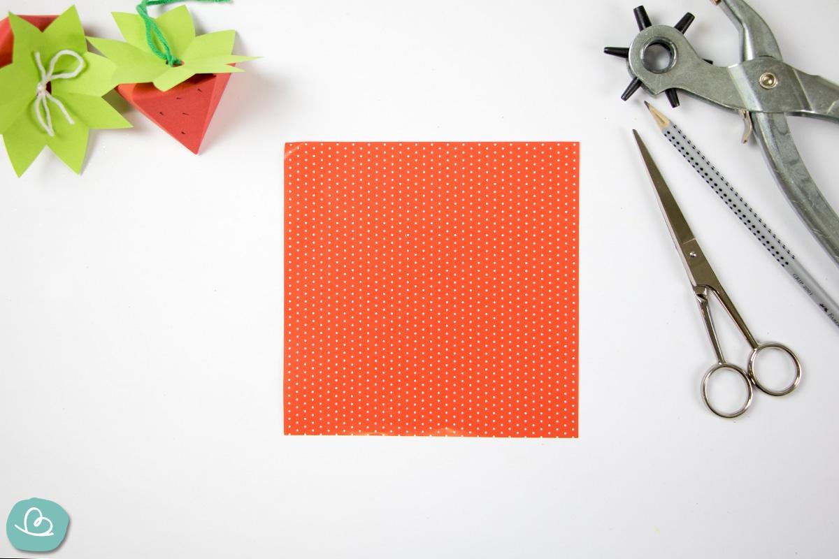 Quadratische Origamipapier