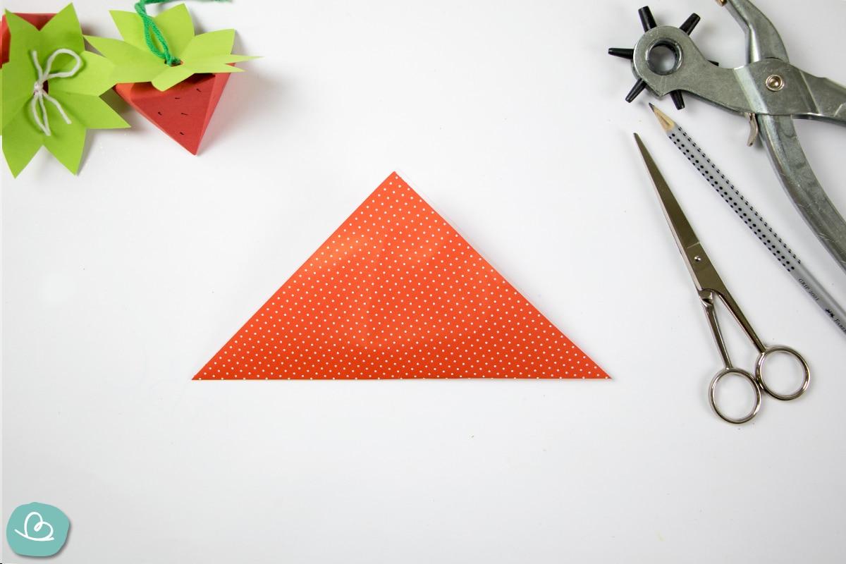 Dreieck falten mit Mittelfaltung