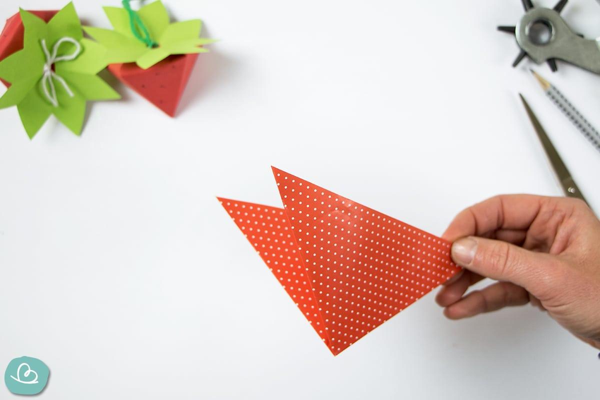 Dreieck falten aus Origamipapier