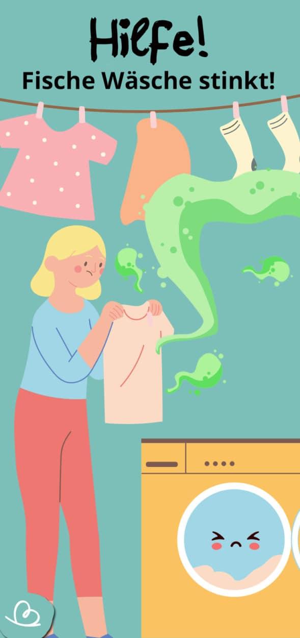 frische Wäsche stinkt Pinterest