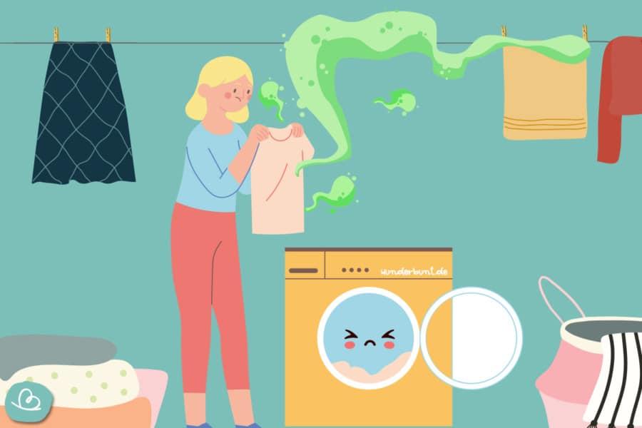 Frische Wäsche stinkt:was tun!
