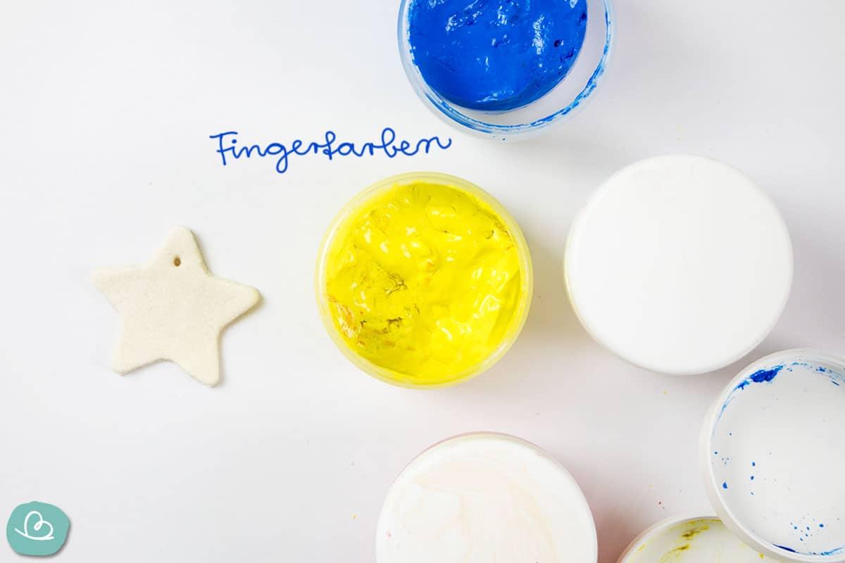 Salzteig und Fingerfarben