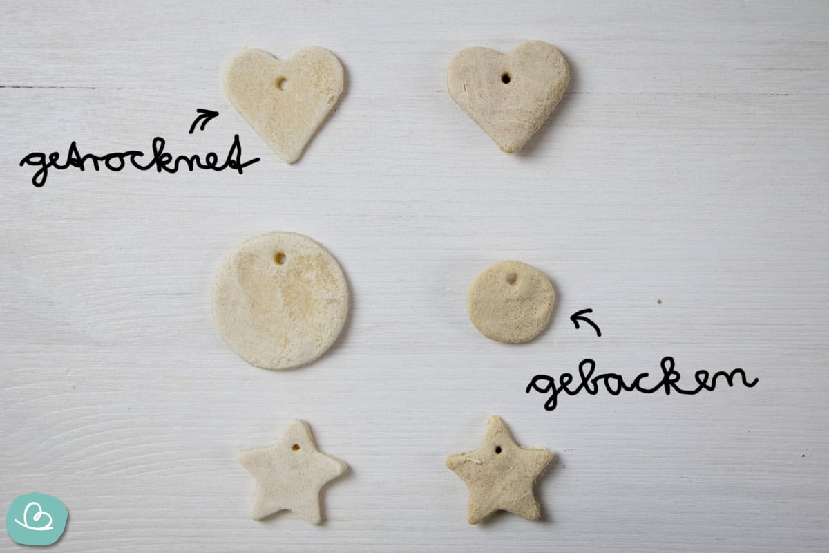 Unterschied zwischen gebackene und getrocknete Salzteigformen