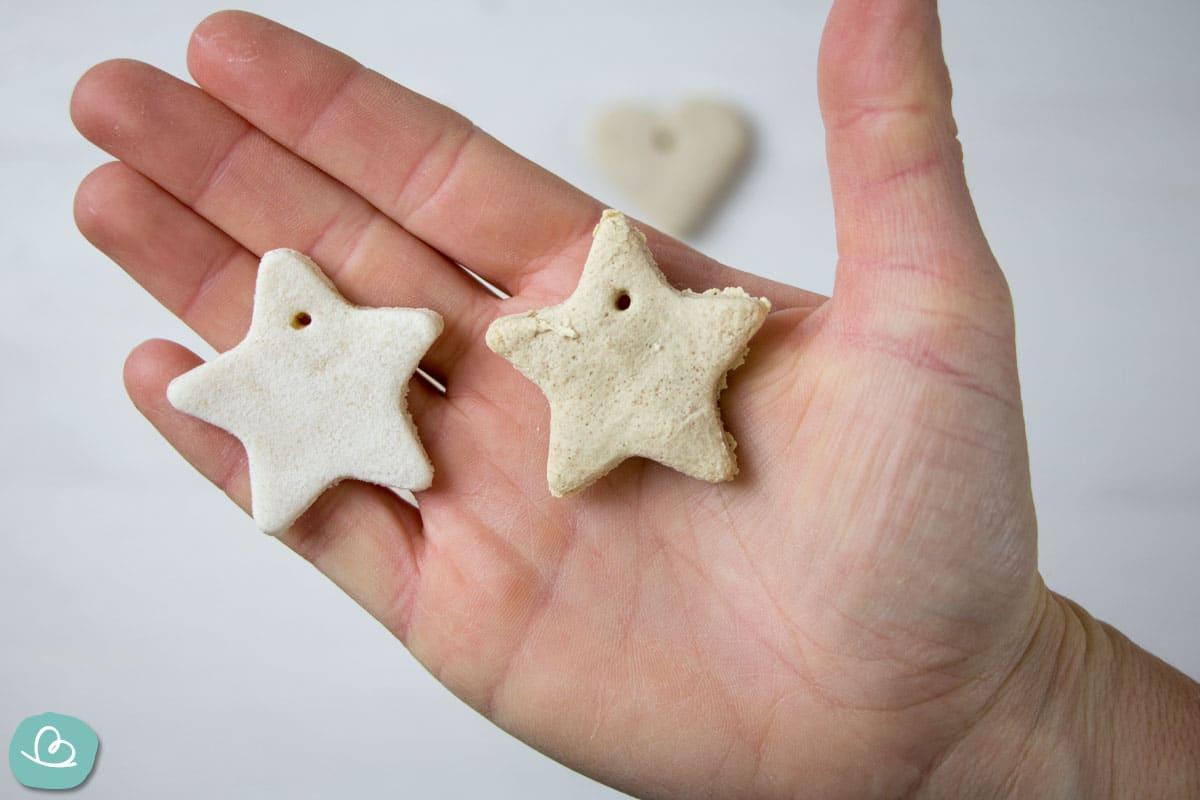 Salzteig Formen getrocknet und gebacken