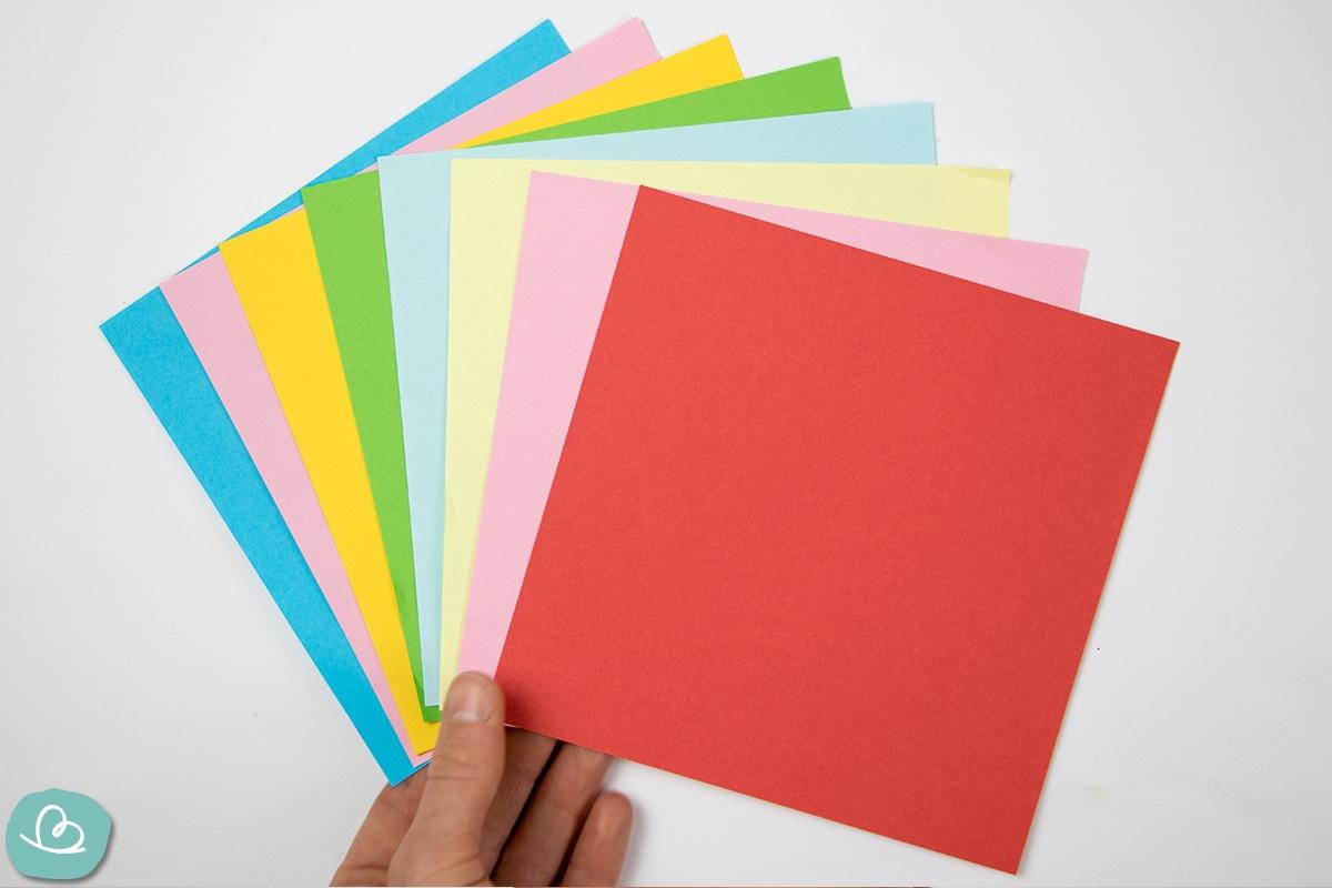 Origami Papier bunt