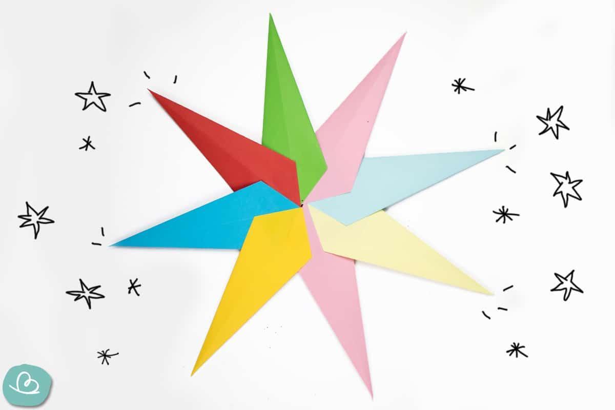 Origami-Stern falten: einfache Anleitung für Kinder