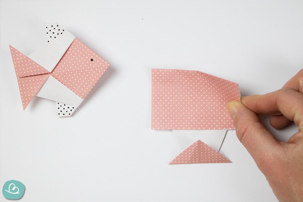 Papier falten kleiner Fisch