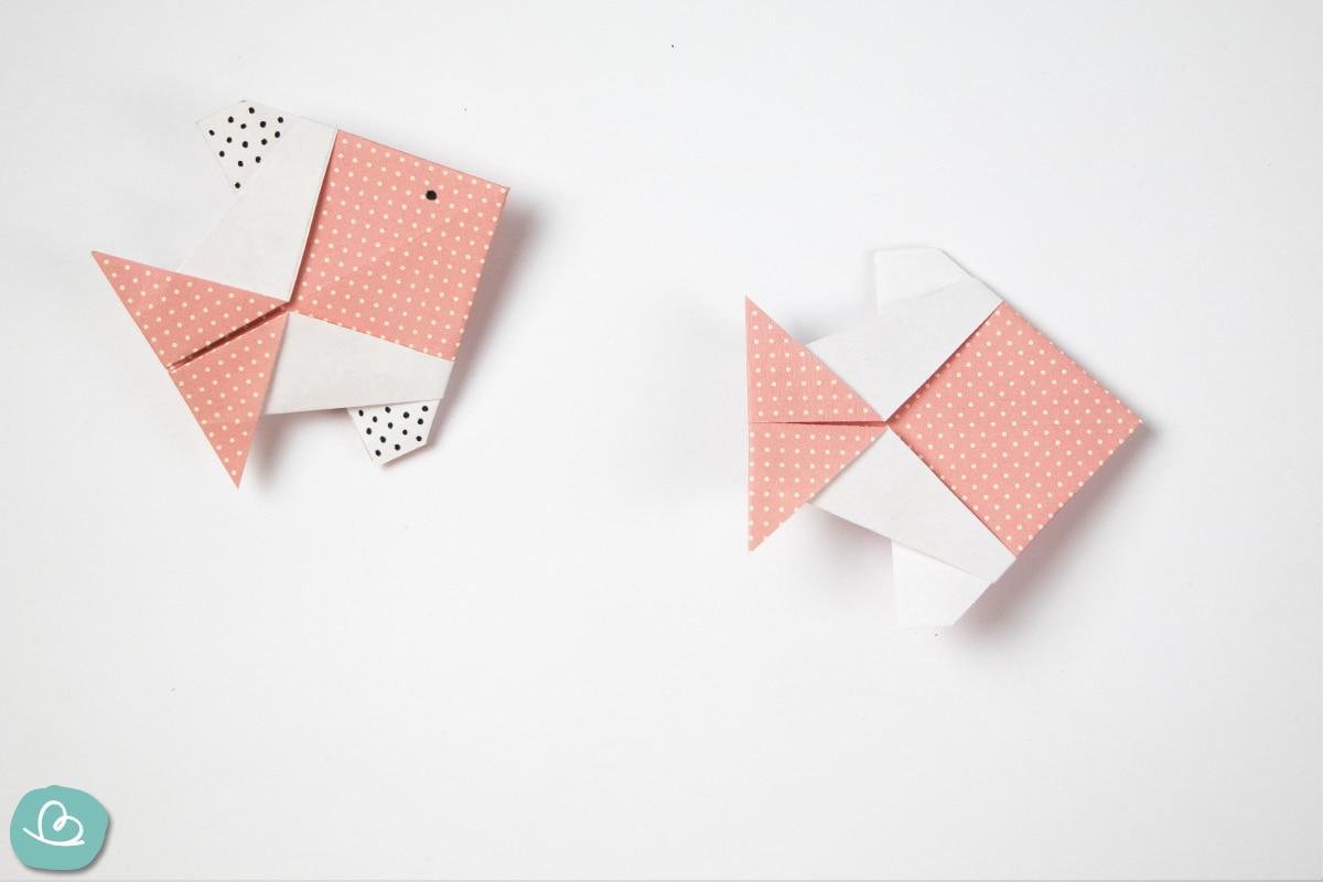 gefalteter Fisch aus Papier
