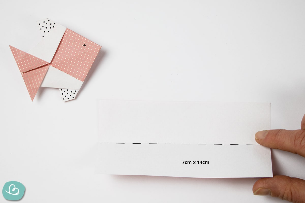 Papiergröße 7cm x 14cm