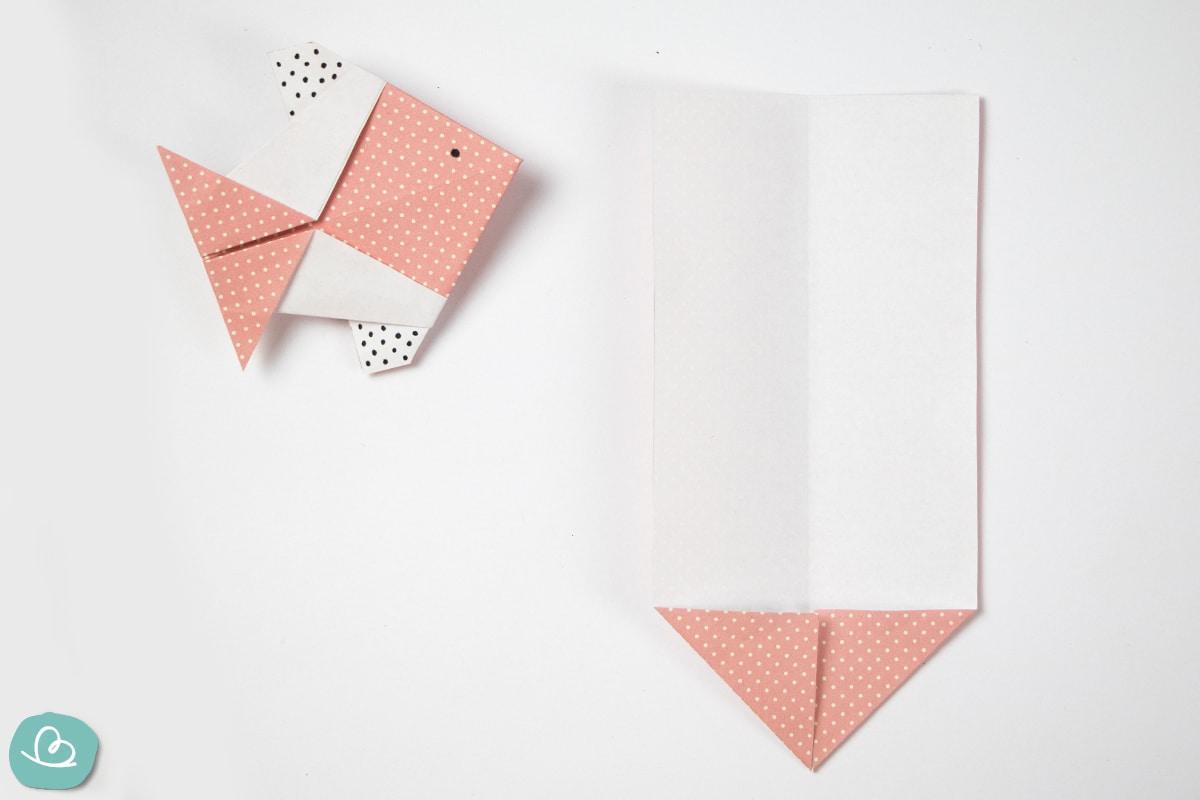 Fisch falten aus Papier