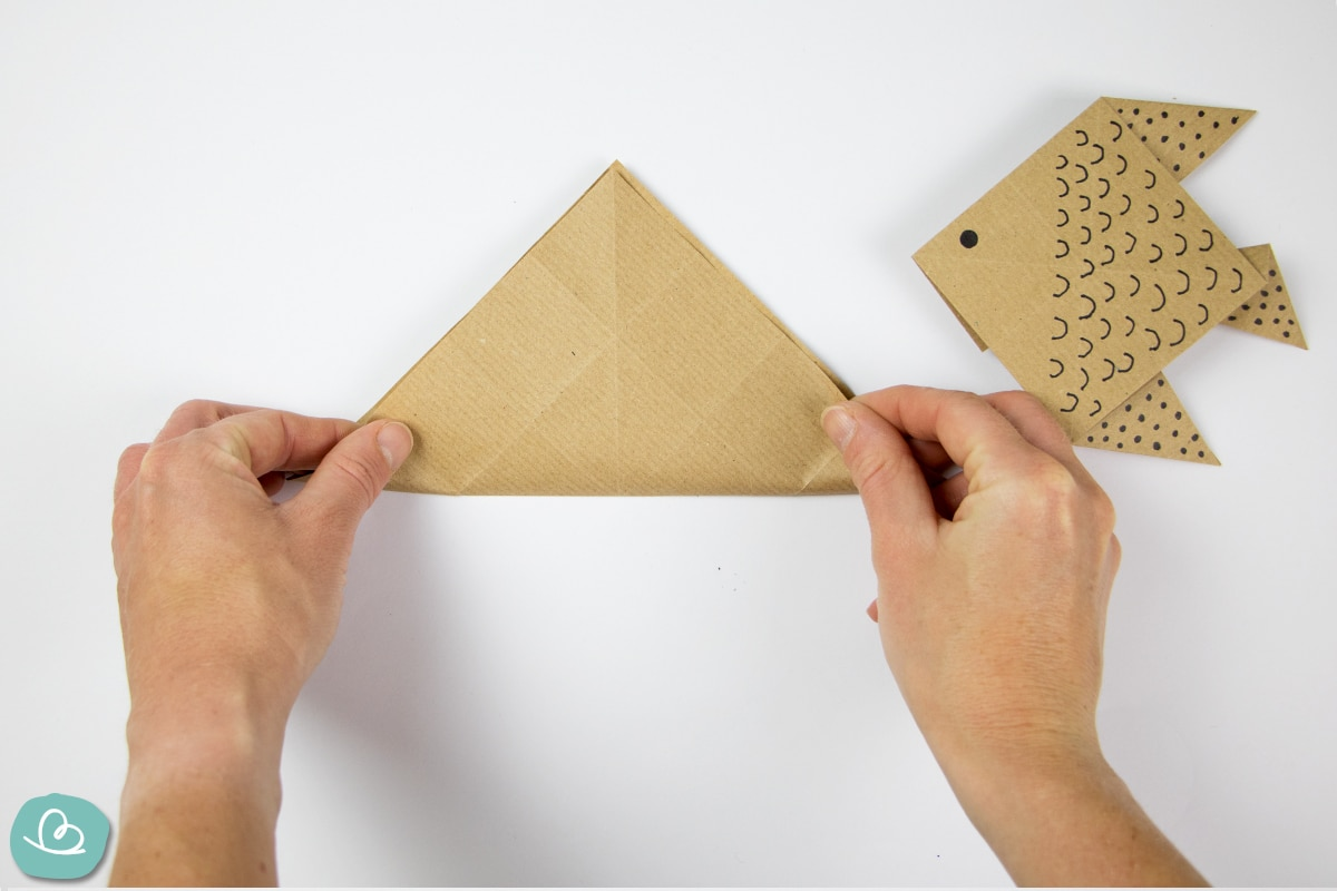Mittelfaltung Origamipapier
