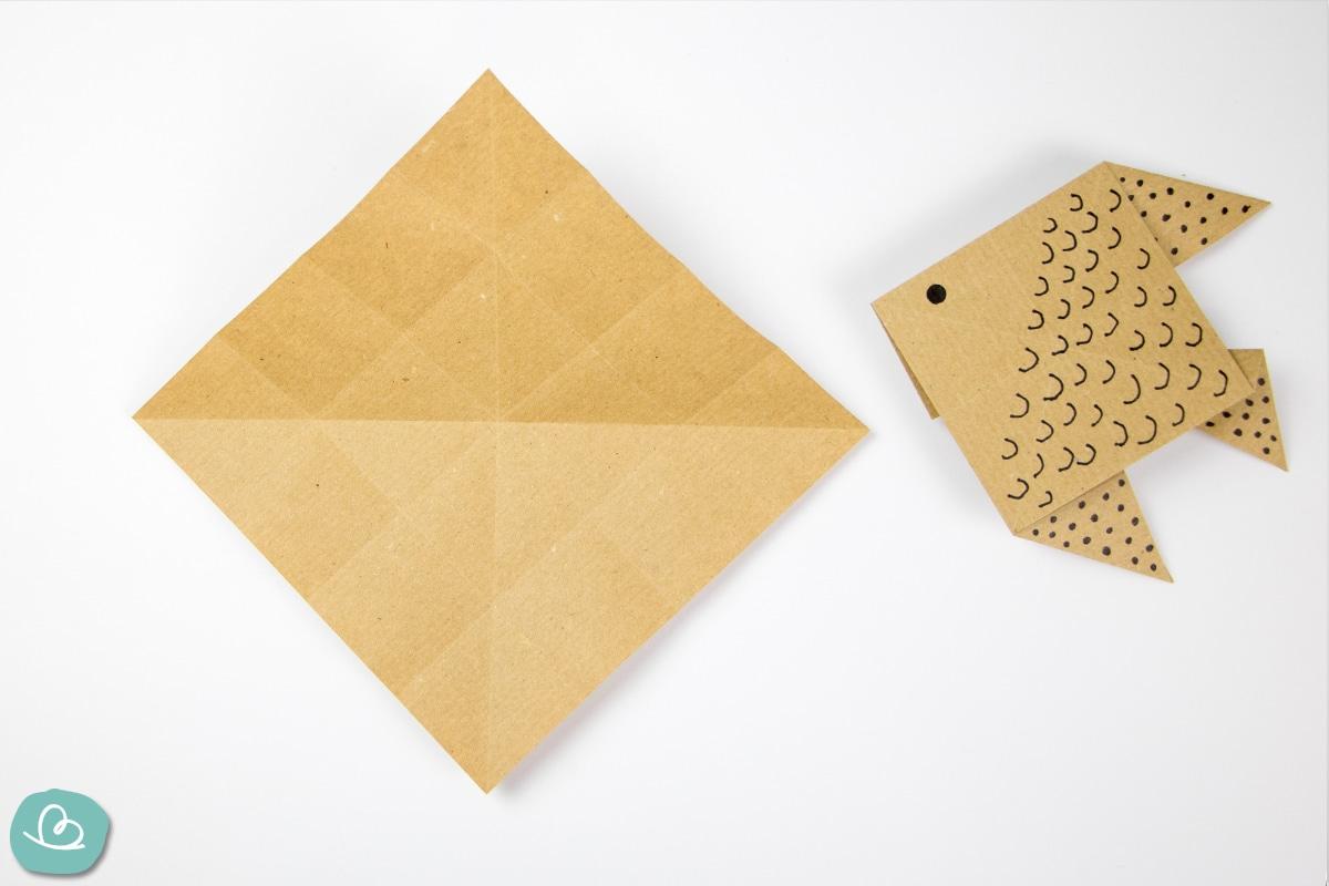 Origami Papier Faltmarkierungen