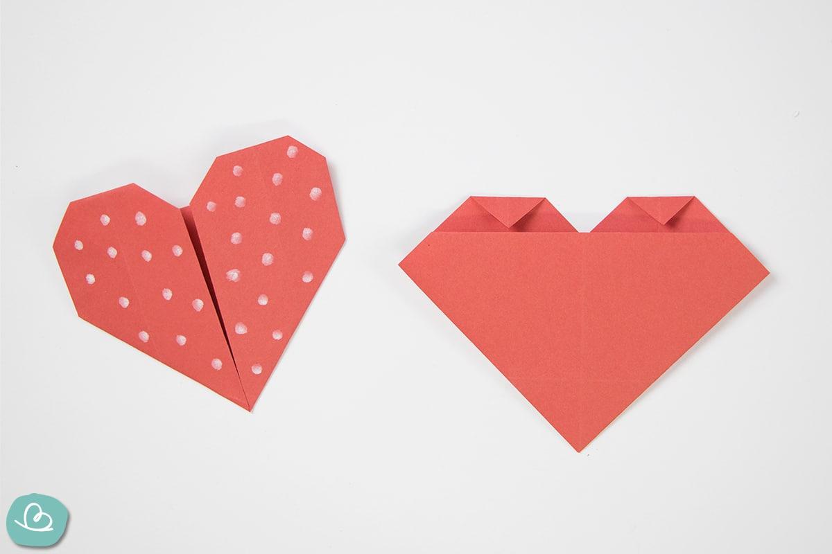 Ecken falten aus Tonpapier