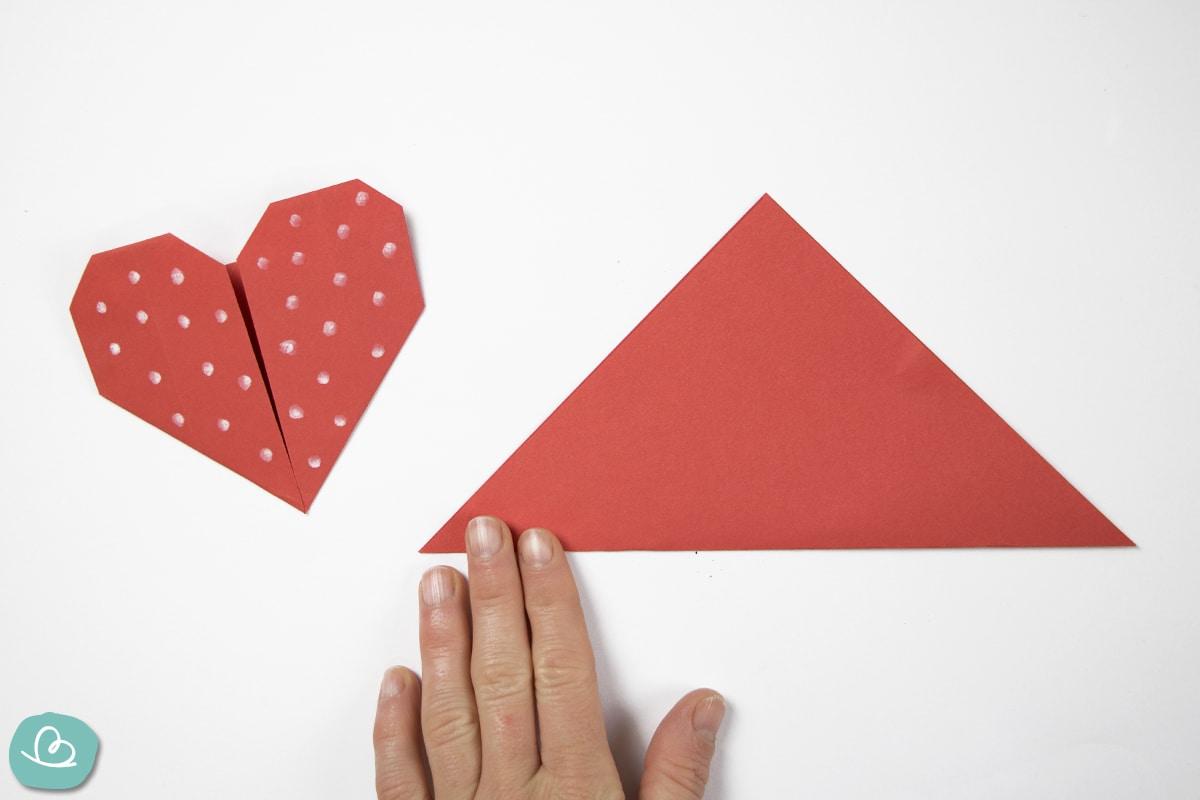 Mittelfaltung mit Origamipapier