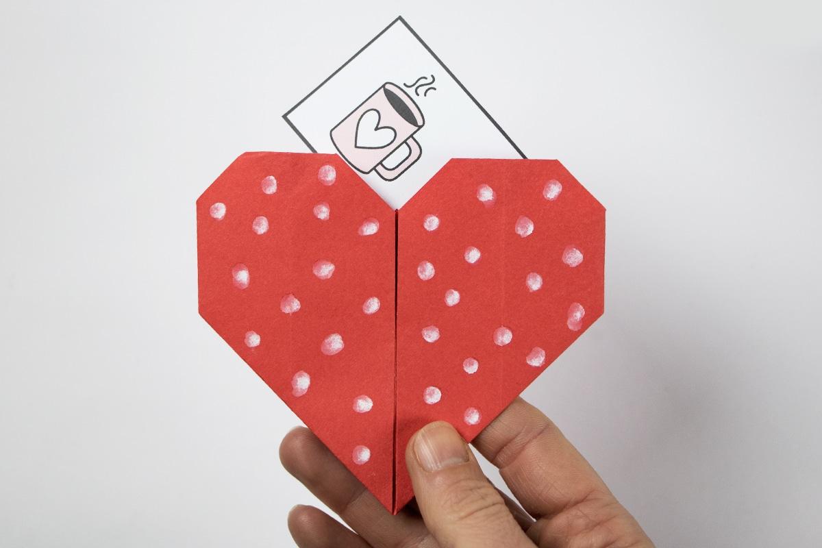 Origami Herz mit Botschaft