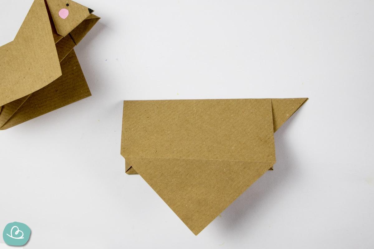 Origami Hund falten Anleitung