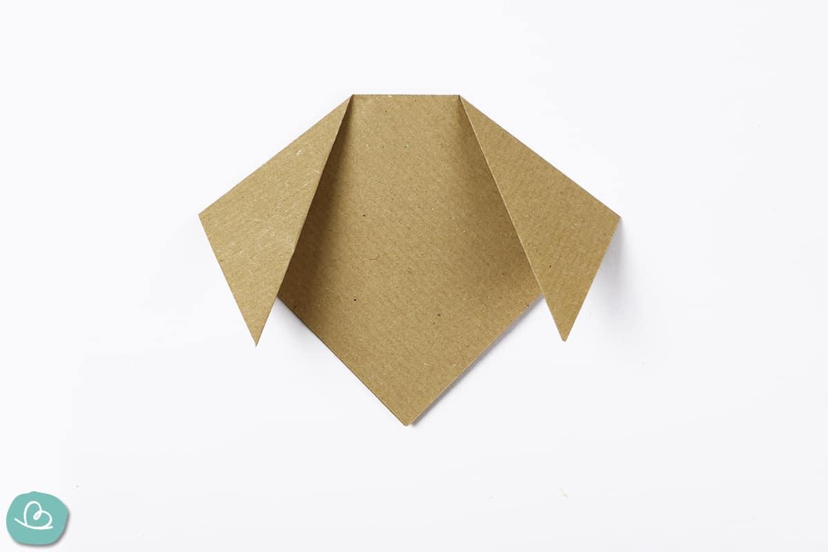 Ohren falten aus Origamipapier