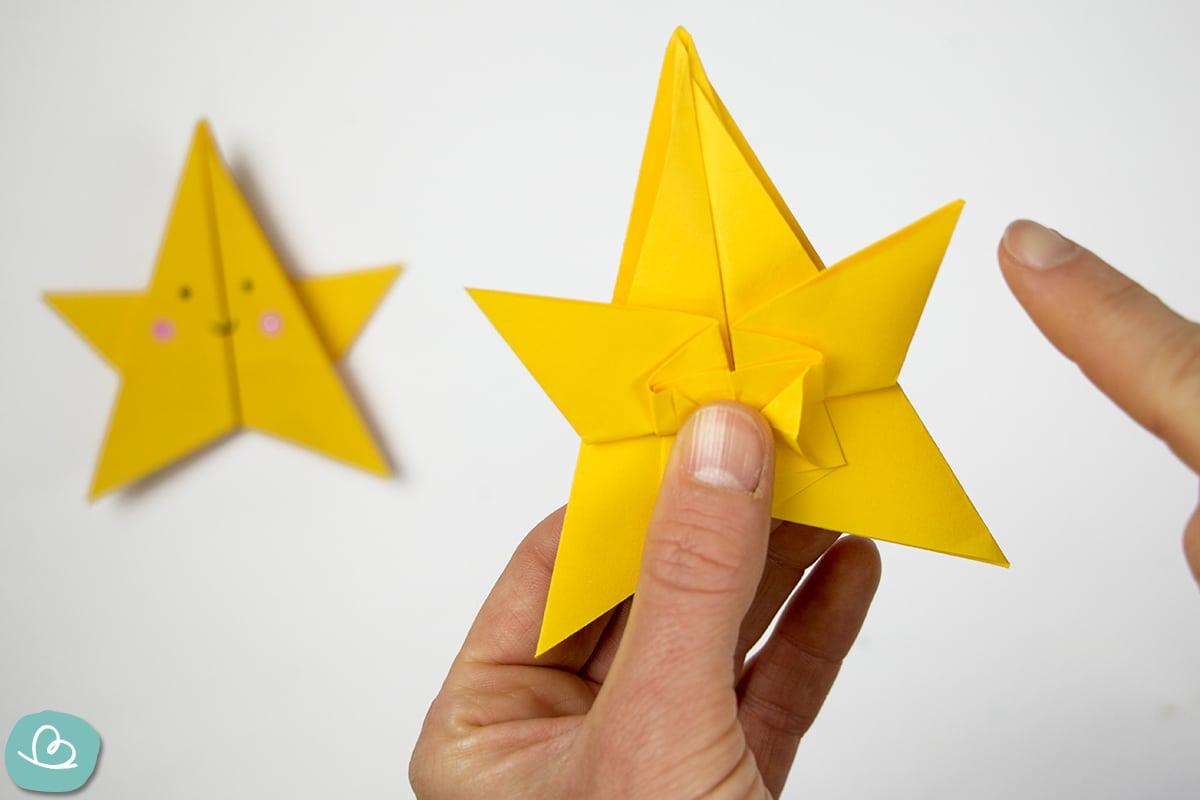 Sternspitze aus Papier