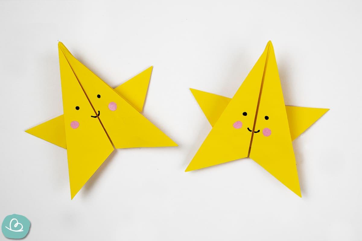 gelber Stern gefaltet