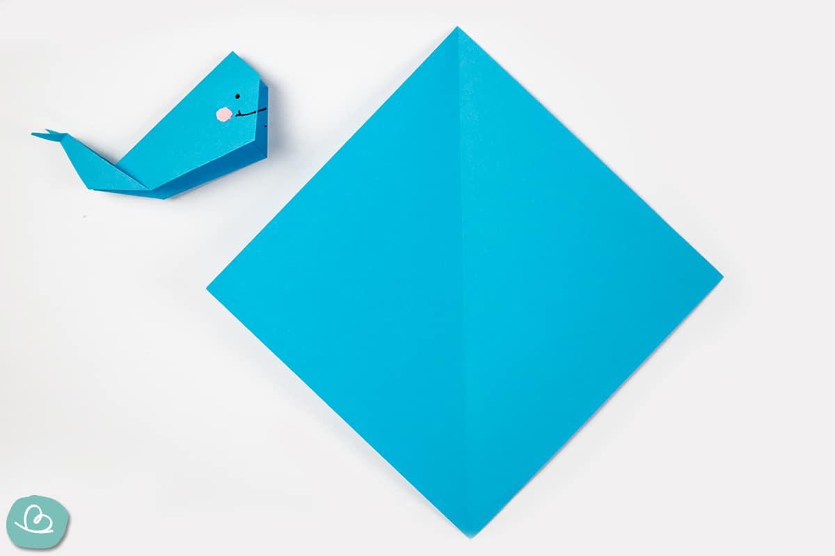 Origami Wal falten