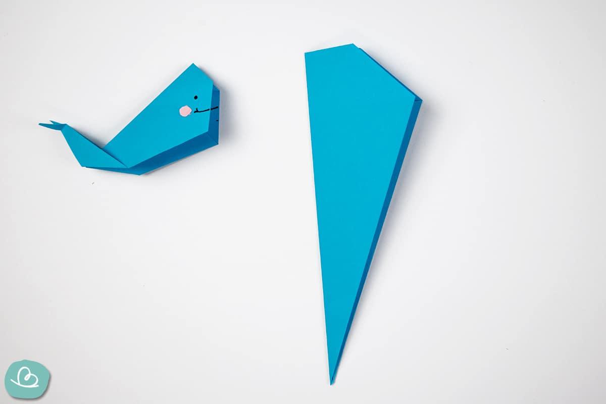 Längsfaltung Origami