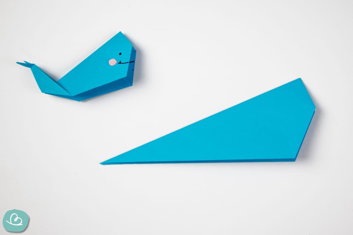 Papierform aus Origamipapier