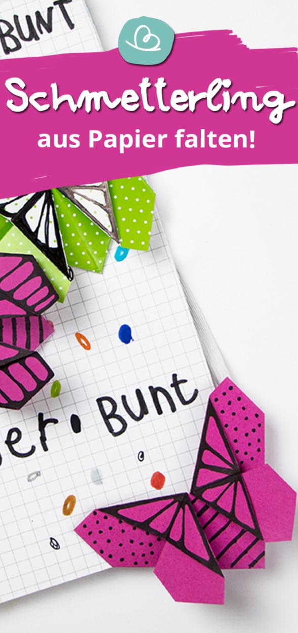 Schmetterling aus Papier Pinterestbild