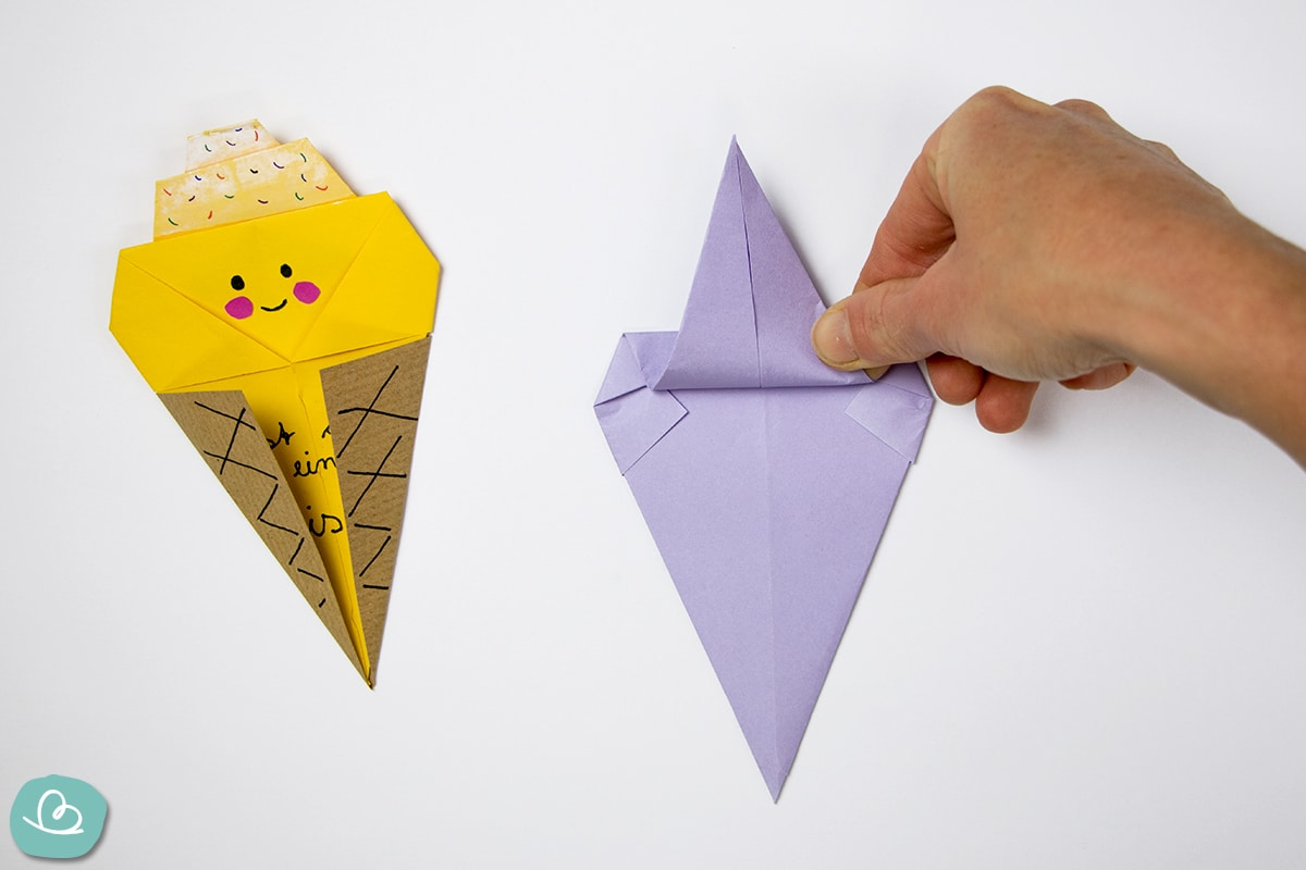 Eistüte falten aus Papier