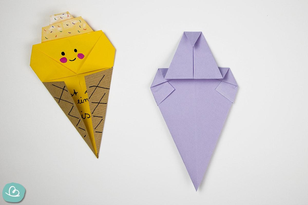 Origamipapier gefaltet