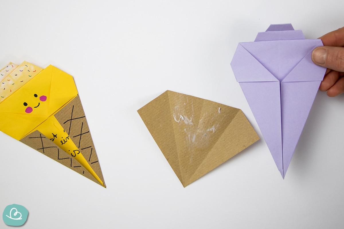 Papier mit Leim beklebt