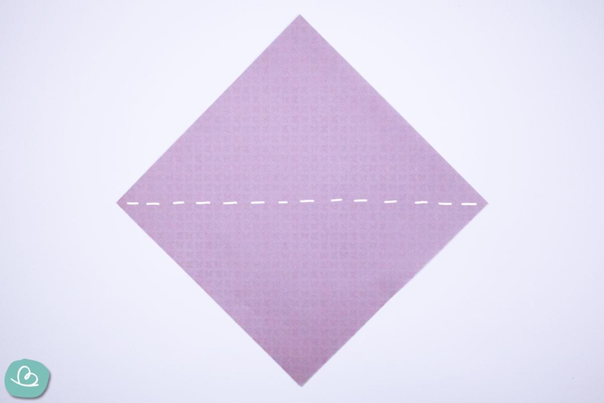 Mittelfaltung Darstellung auf Origamipapier