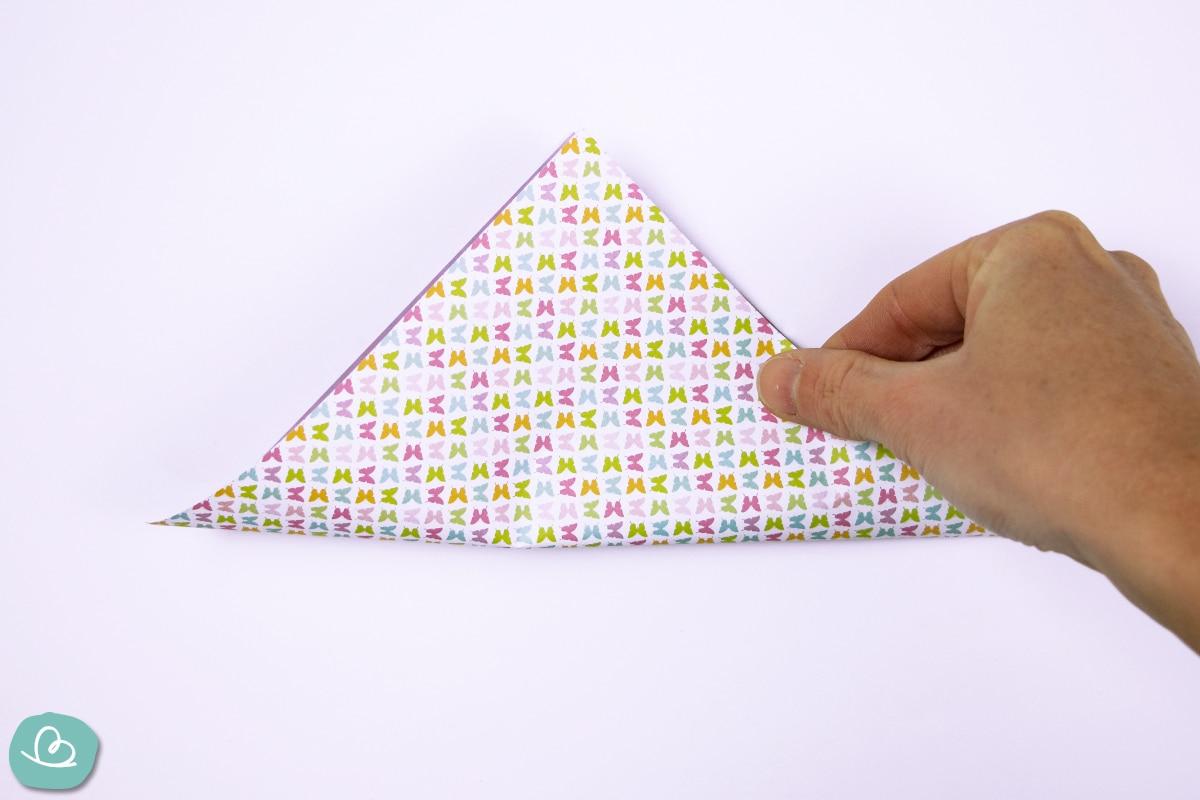 Dreieck falten